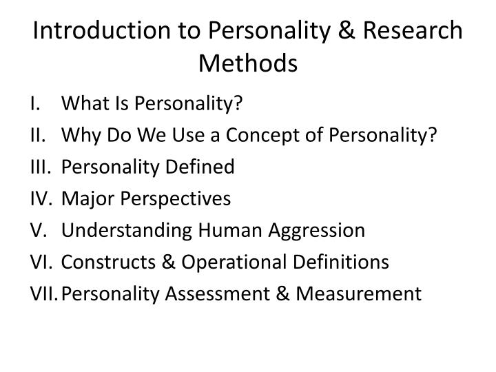 introduction to personality research methods n.