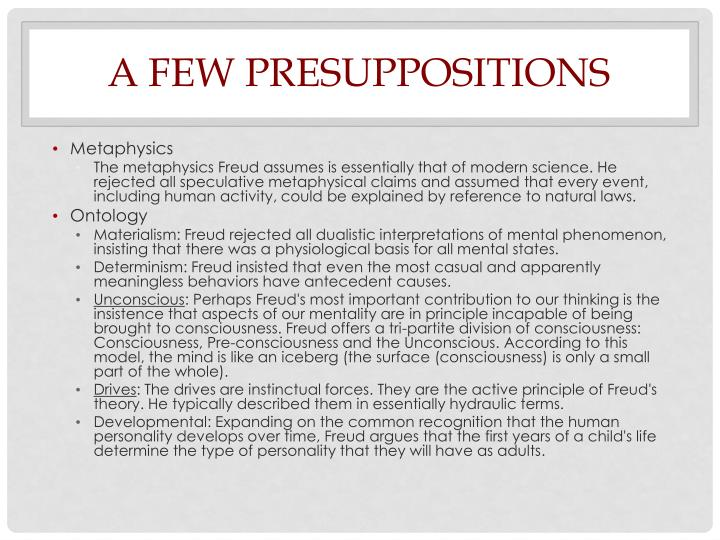 A few presuppositions
