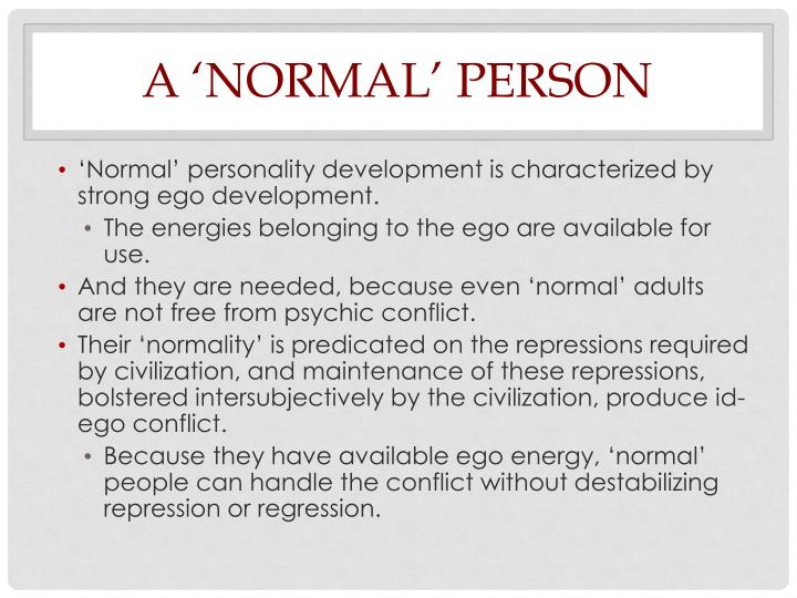 A 'Normal' Person