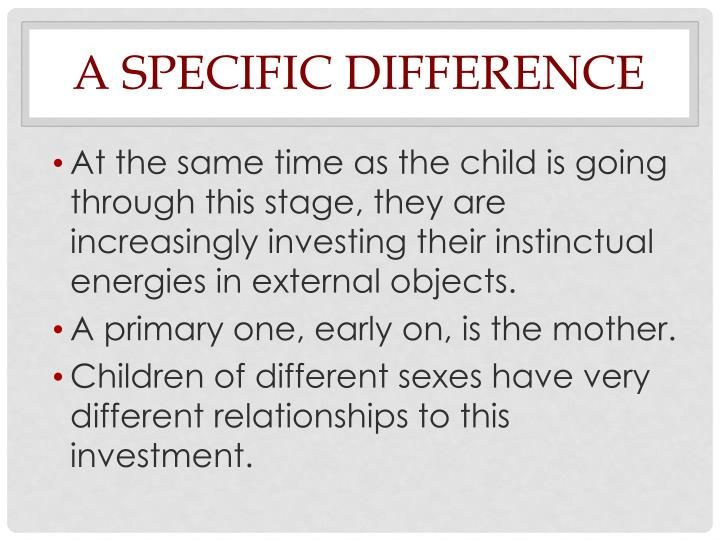 A Specific Difference