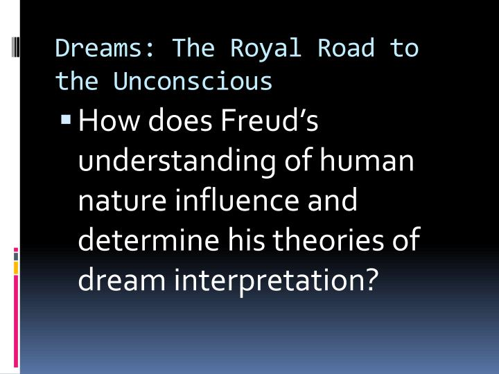 dreams the royal road to the unconscious n.