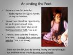 anointing the feet