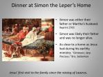 dinner at simon the leper s home