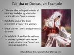 tabitha or dorcas an example