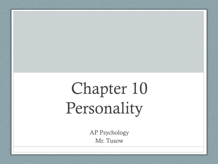 chapter 10 personality n.