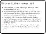 when they were discovered