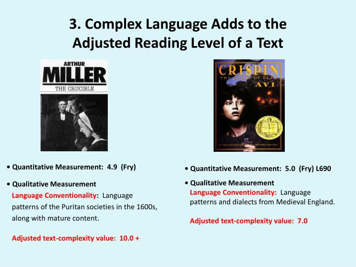 3. Complex Language Adds to the