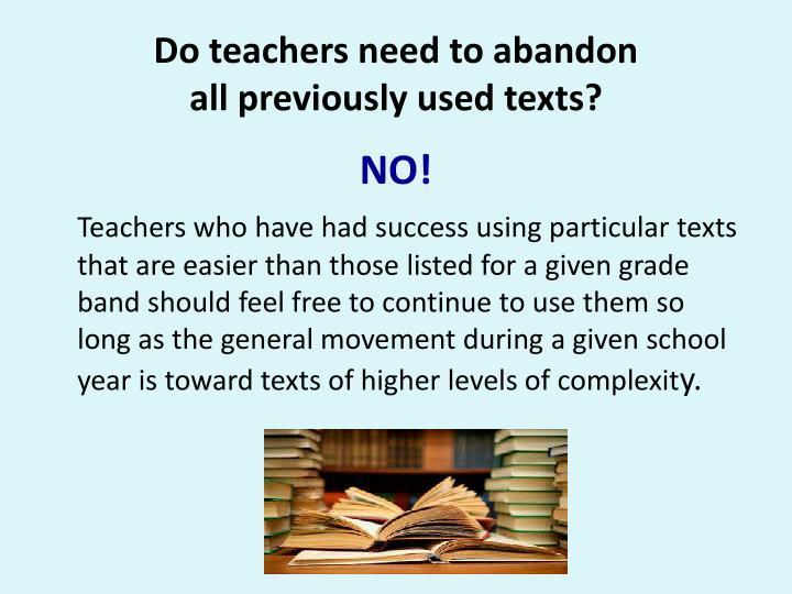 Do teachers need to abandon