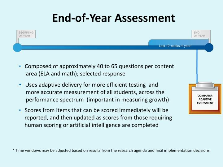 End-of-Year Assessment
