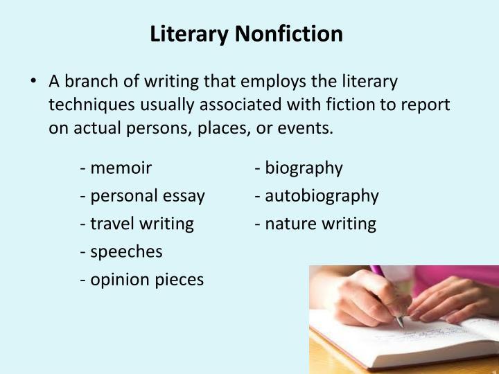 Literary Nonfiction