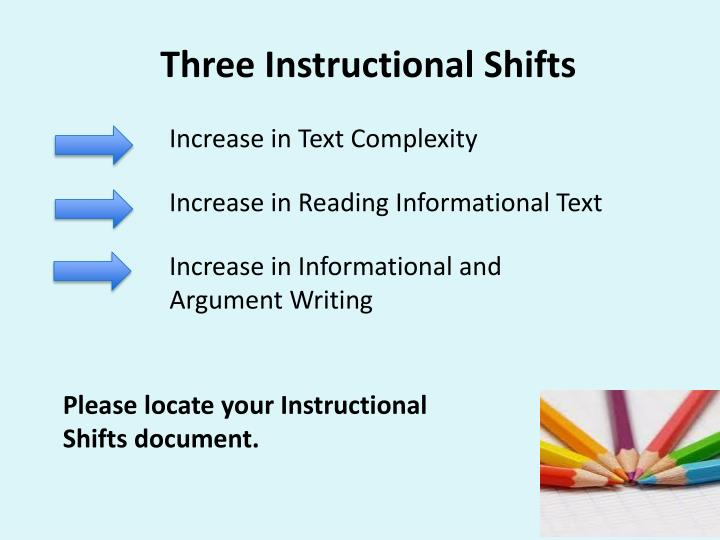 Three Instructional Shifts