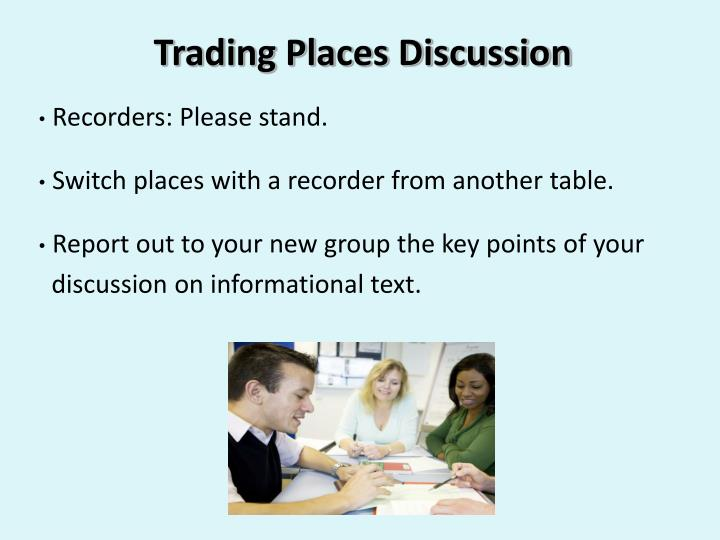 Trading Places Discussion