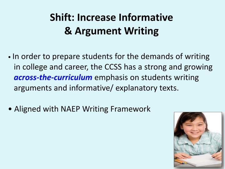 Shift: Increase Informative