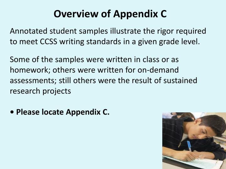 Overview of Appendix C