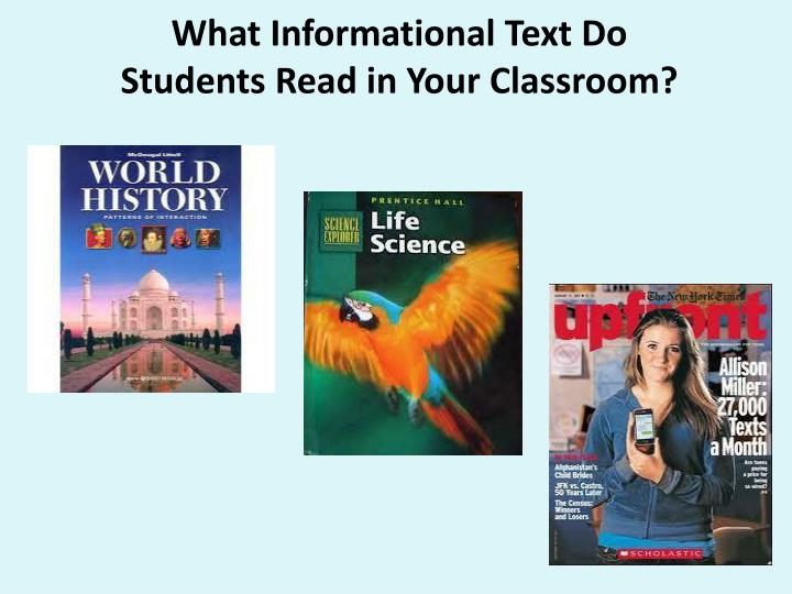 What Informational Text Do