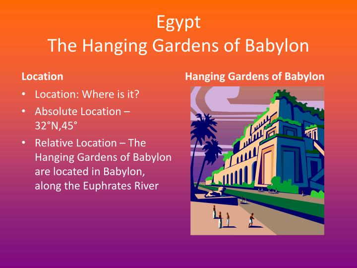 Egypt the hanging gardens of babylon