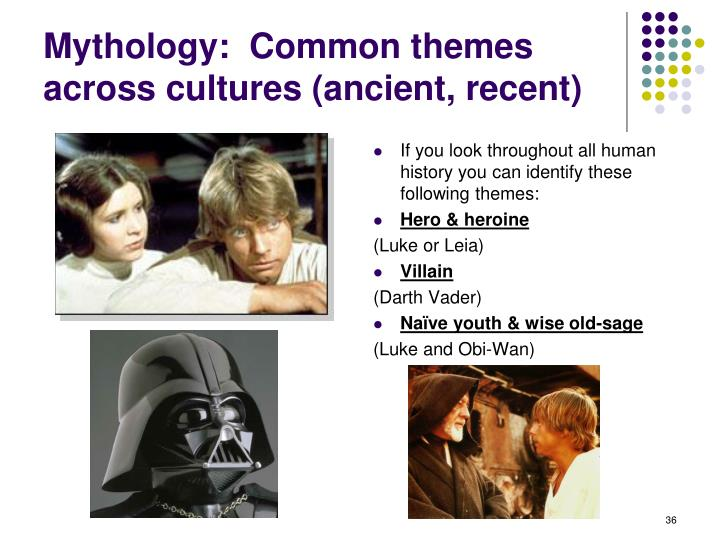 Mythology:  Common themes across cultures (ancient, recent)