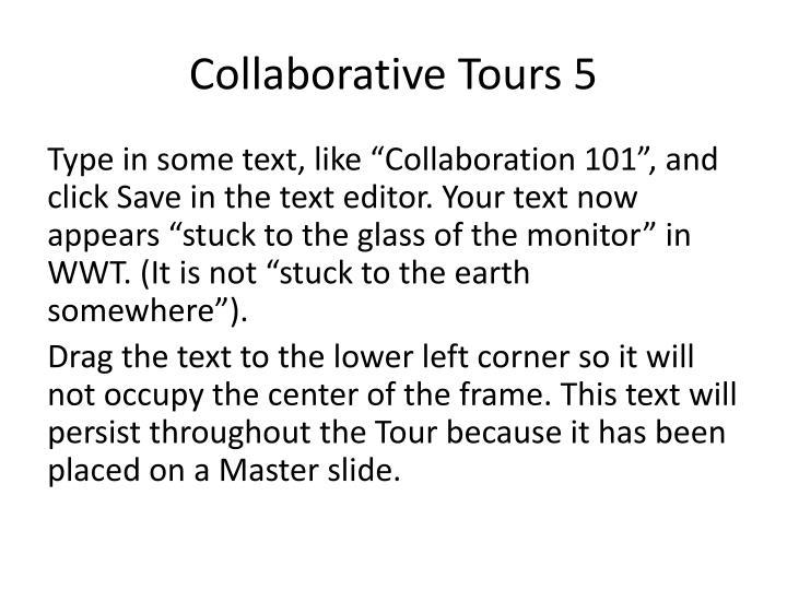 Collaborative Tours 5