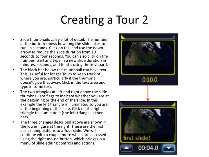 Creating a Tour 2