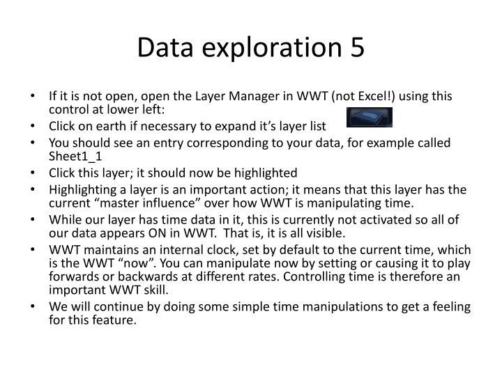 Data exploration 5