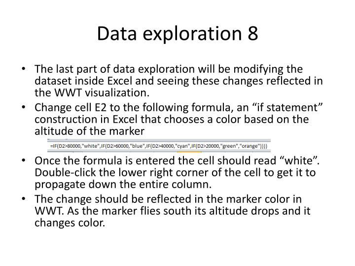Data exploration 8
