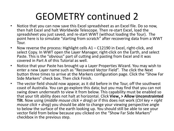 GEOMETRY continued 2