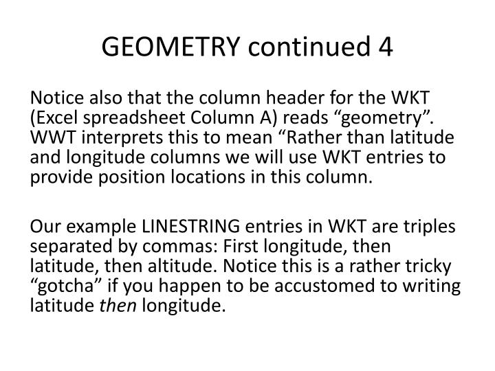 GEOMETRY continued 4
