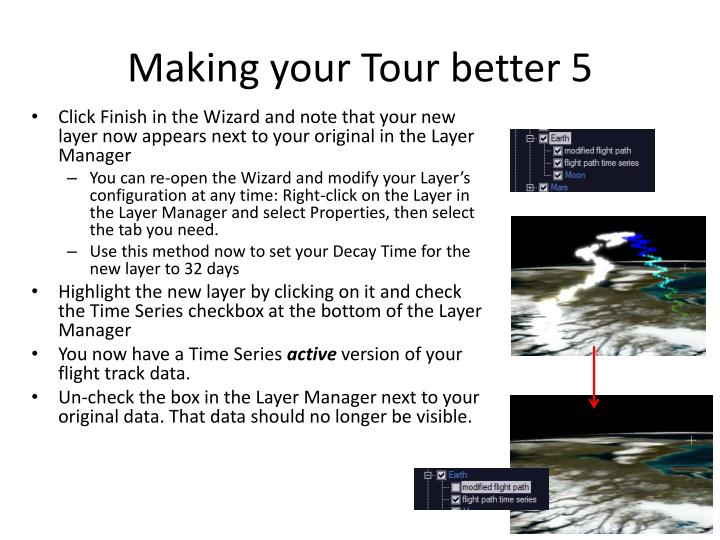 Making your Tour better 5