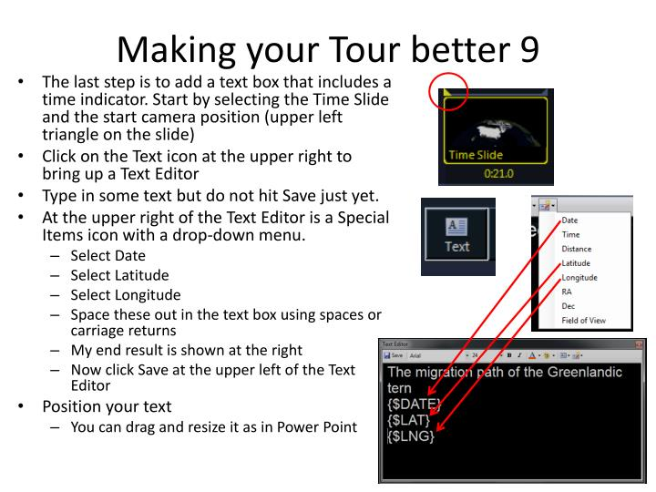 Making your Tour better 9