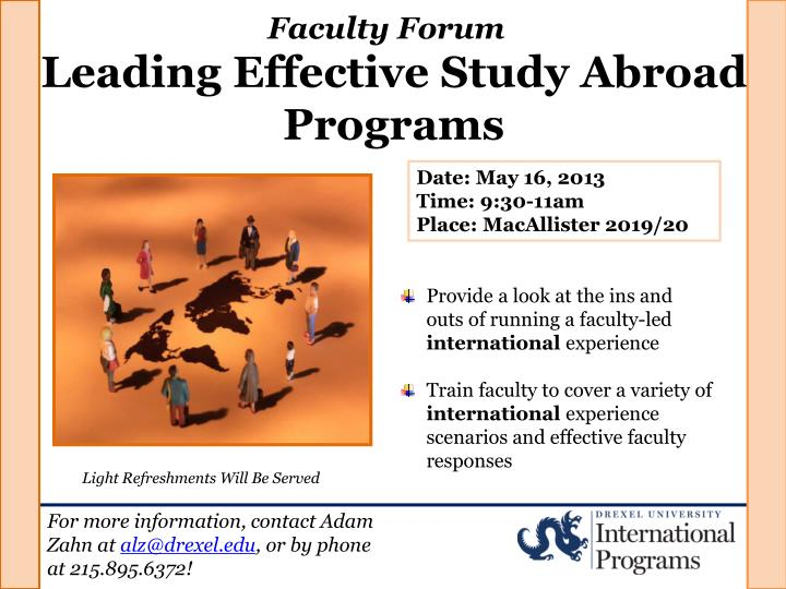 PPT - Leading Effective Study Abroad Programs PowerPoint