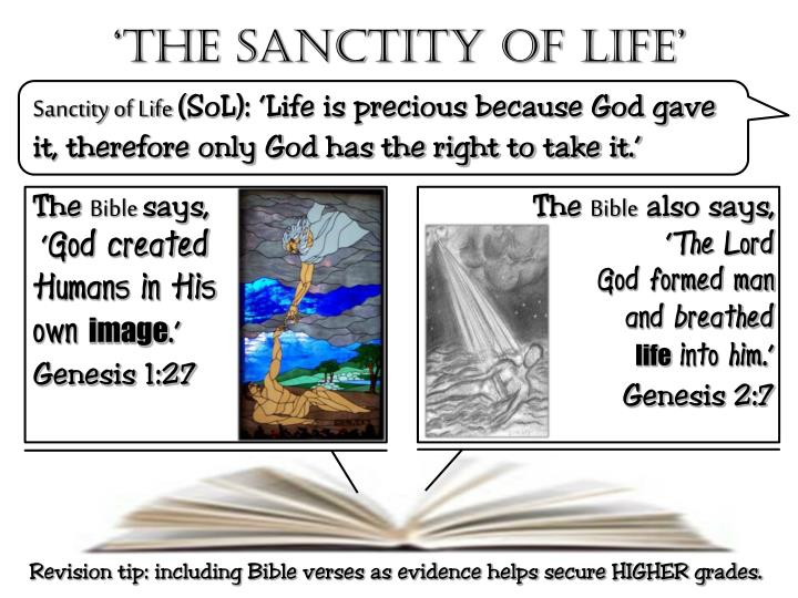 'The Sanctity of life'