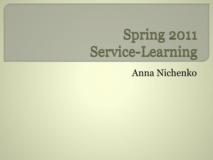 spring 2011 service learning n.