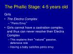 the phallic stage 4 5 years old