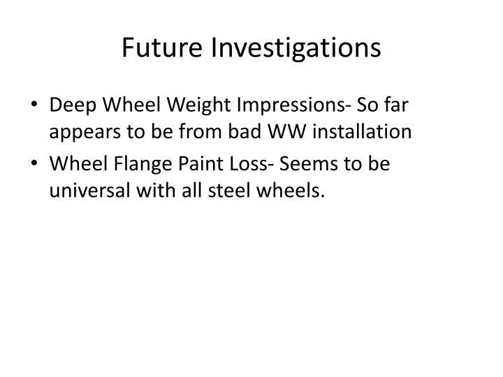 Future Investigations