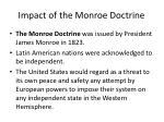 impact of the monroe doctrine1