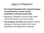 legacy of napoleon