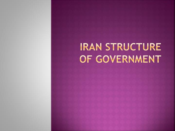 iran structure of government n.