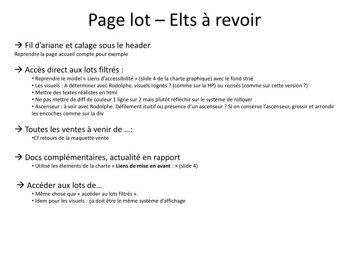 Page lot –