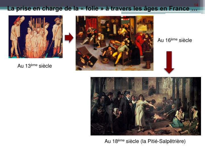 La prise en charge de la «folie» à travers les âges en France …