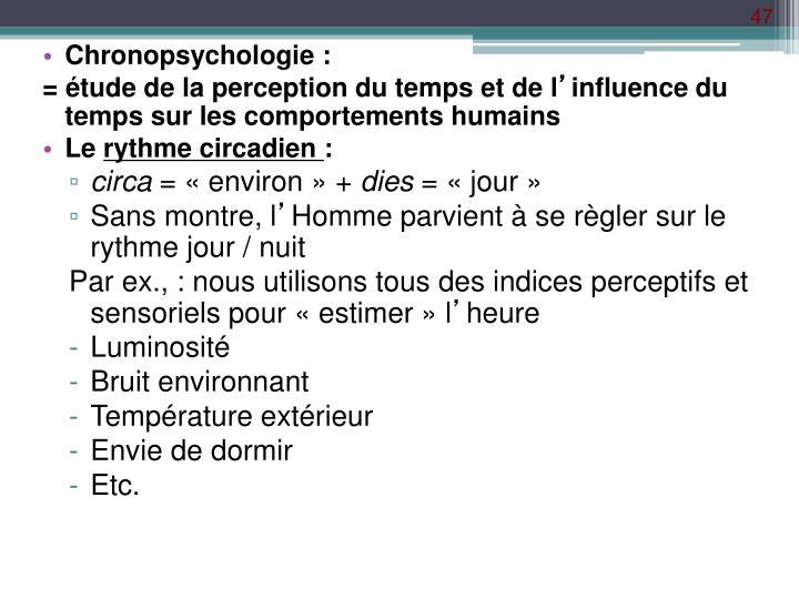 Chronopsychologie