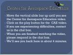 center for aerospace education