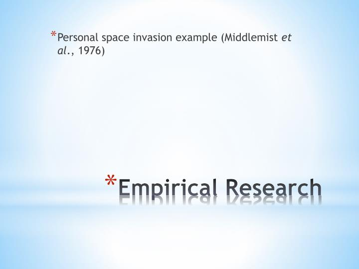 Personal space invasion example (