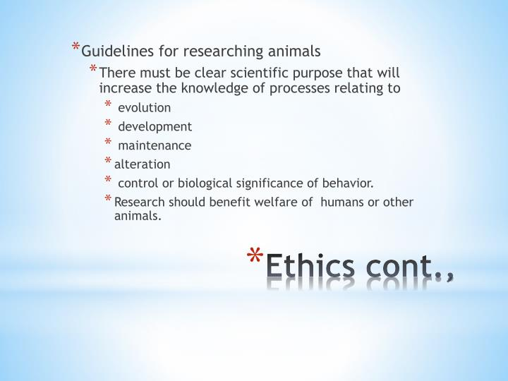 Guidelines for researching