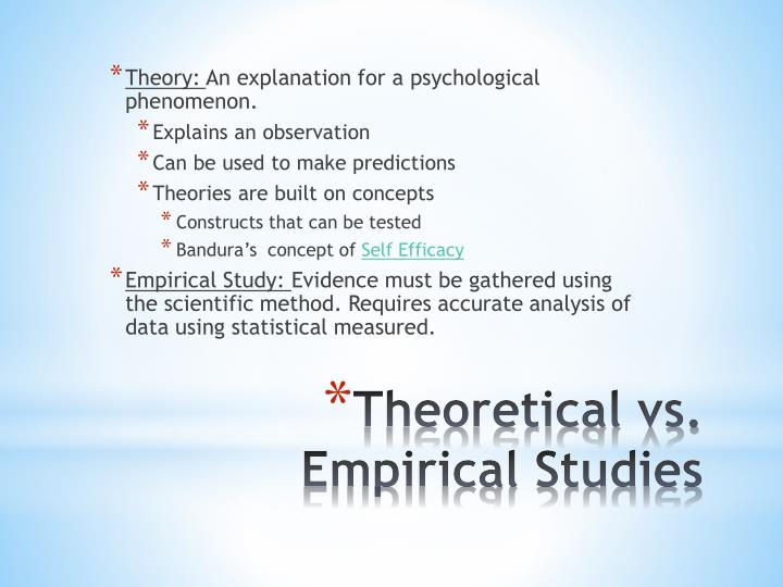 Theory: