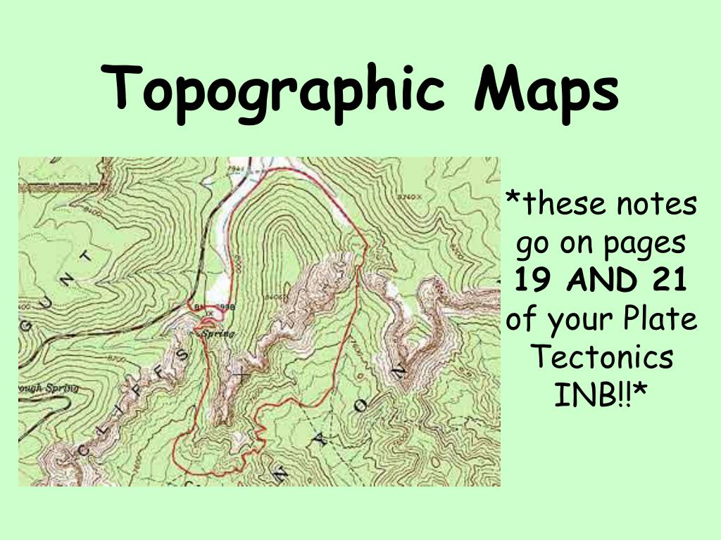 ppt topographic maps powerpoint presentation id 2131528