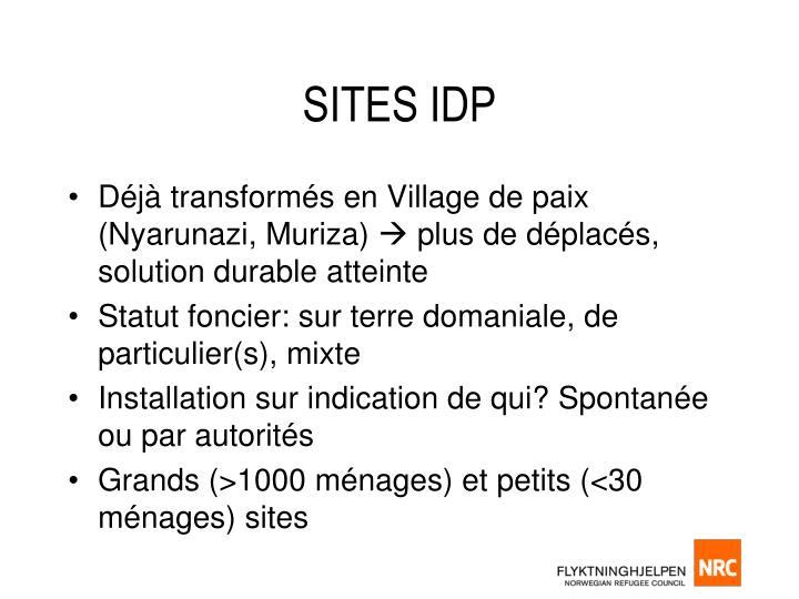 Sites idp