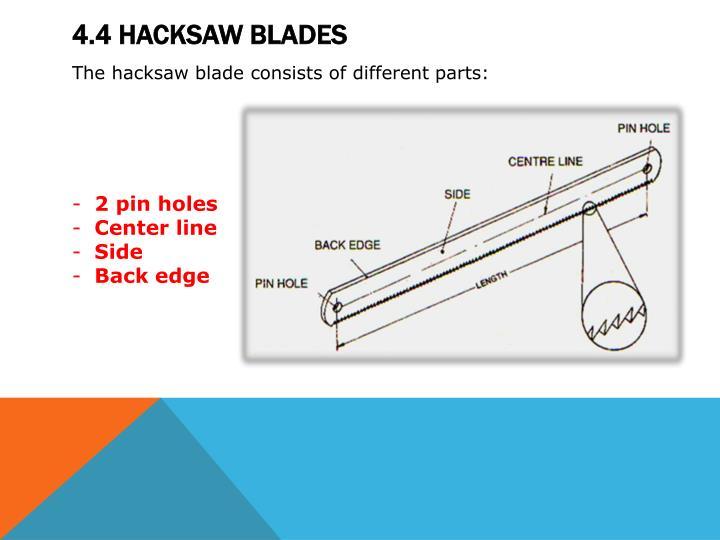 Ppt module 4 hacksaws powerpoint presentation id2131671 44 hacksaw blades greentooth Choice Image