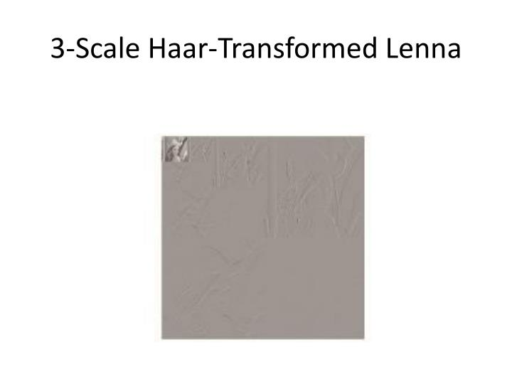 3 scale haar transformed lenna n.