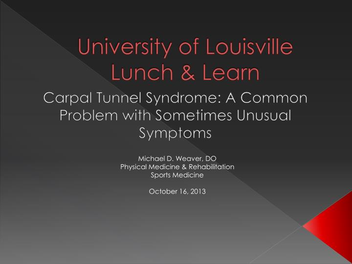 university of louisville lunch learn n.