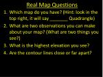 real map questions